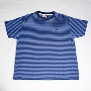 Vintage Tommy Jeans Blue Striped T-shirt